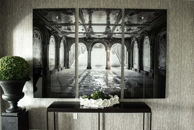 """large format 1/8"""" triptych acrylic print"""