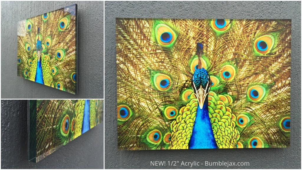 acrylic print + metallic paper