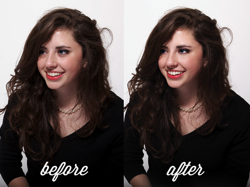 before and after photoshop retouching